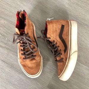 VANS • Hightop Camel Sneakers Shoes